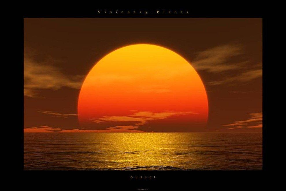 Coucher de soleil - Dessin coucher de soleil ...