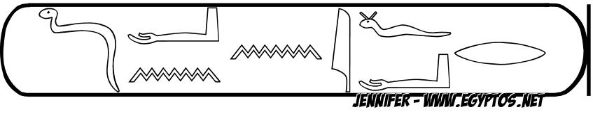 nom en hieroglyphe